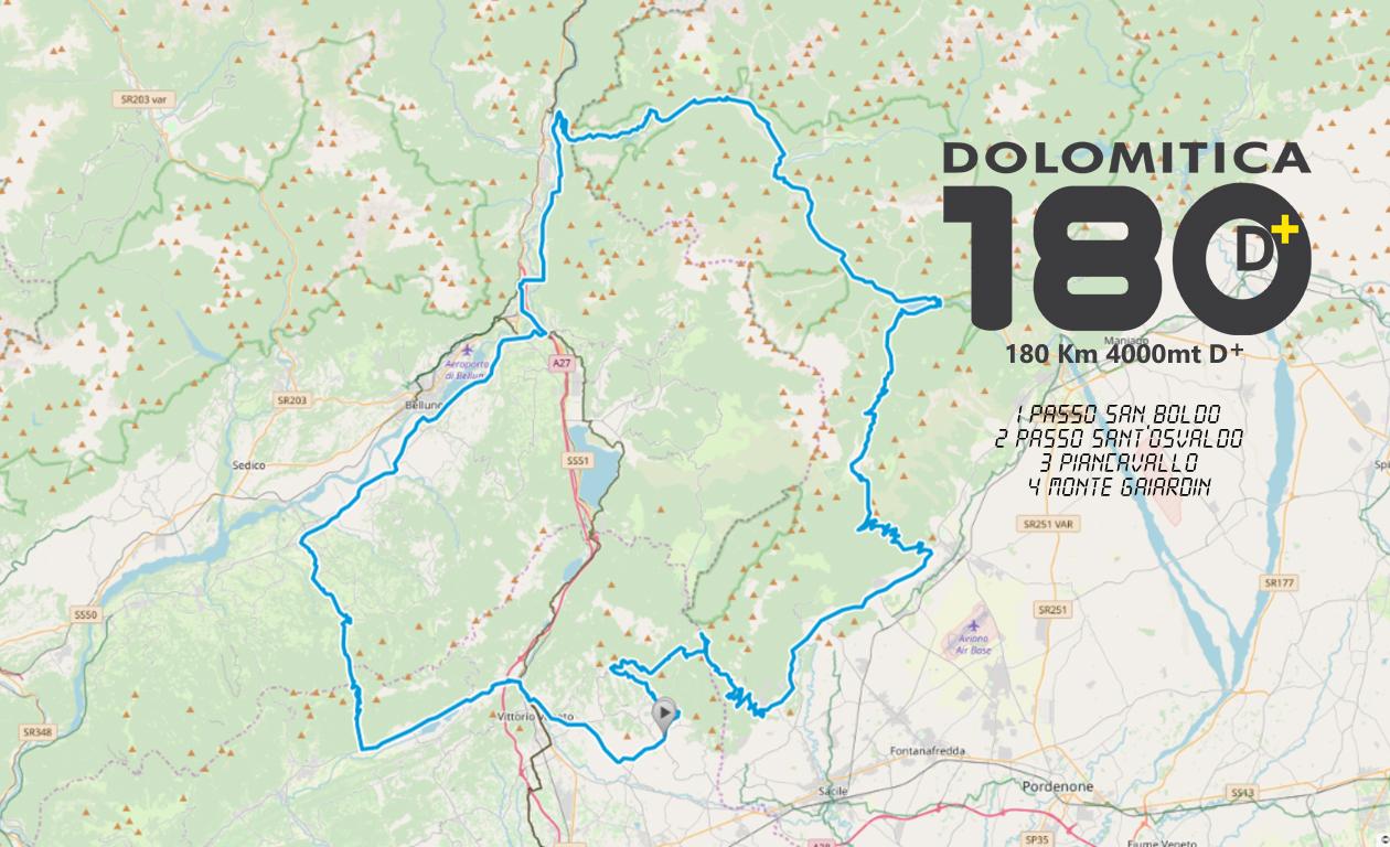 PERCORSO DOLOMITICA 180 2020 ok